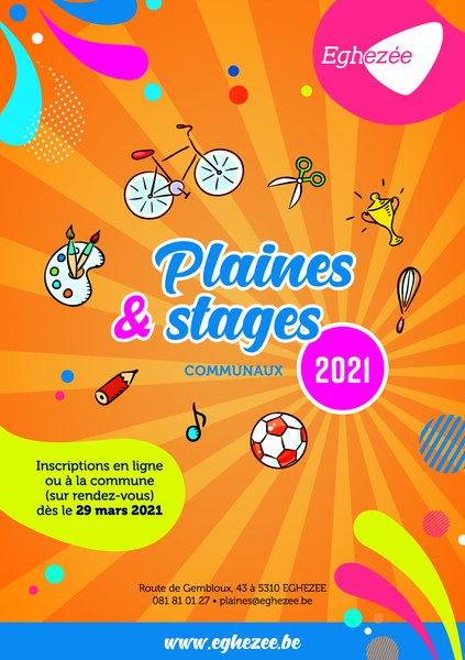 Folder plaines et stages 2021